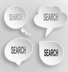 Search White flat buttons on gray background vector image vector image