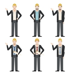 Set of engineer men2 vector image vector image