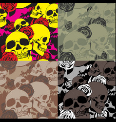 skullamproses camo vector image vector image