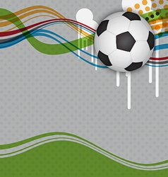 soccer background design vector image