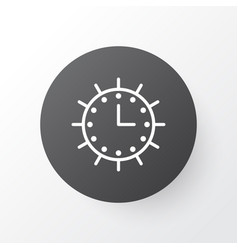 solar time icon symbol premium quality isolated vector image vector image
