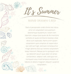 Summer paradise holiday marine card vector