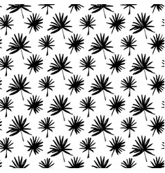tropical palm brush seamless pattern vector image