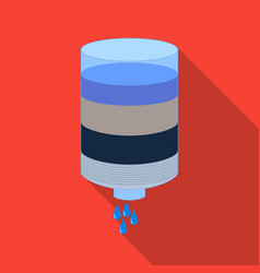 Water filter cartridge icon in flate style vector