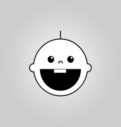 Baby smile icon vector