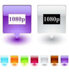 1080p square button vector image vector image