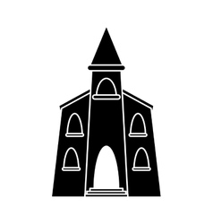 Church building religious christian pictogram vector