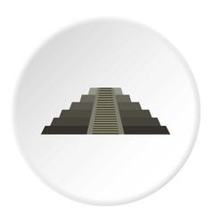 El castillo mayan pyramid at chichen itza icon vector