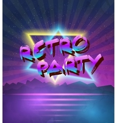 1980 neon poster retro disco 80s background made vector