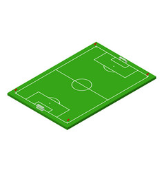 3d isometric football soccer field vector