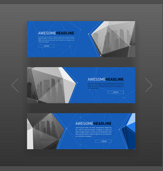 3d lowpoly solid abstract website slider template vector