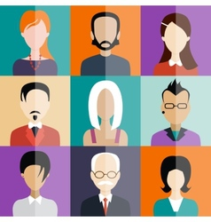 Avatar flat design icons people vector