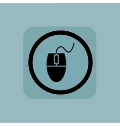 Pale blue mouse controller sign vector