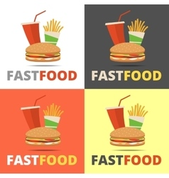 Fast food restaurant menu vector
