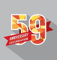 59th years anniversary celebration design vector