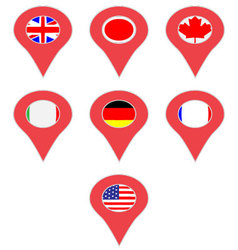 Pin location country g7 vector