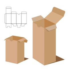 Box packaging design brown box packaging vector