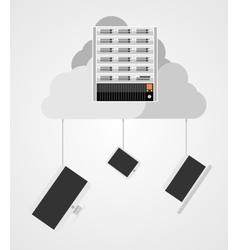 Concept of cloud computing vector