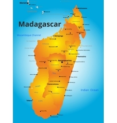 Color map of madagascar country vector