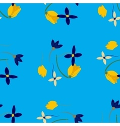 Light floral background in  colorful spring vector