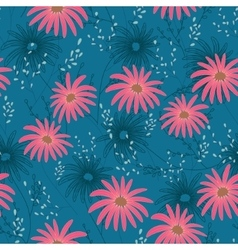 Floral seamless pattern with delicate flowers vector