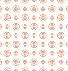 Seamless pattern ornament cross and medicine vector