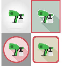 Electric repair tools flat icons 08 vector