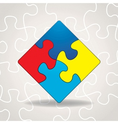 Autism Puzzle Square vector image vector image