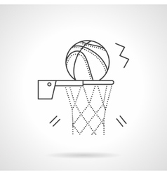 Basketball shot flat line design icon vector image