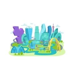 City future An unusual non-standard architecture vector image