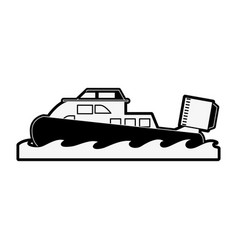 Coastguard fan boat vector