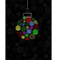 Colorful Christmas ball vector image vector image