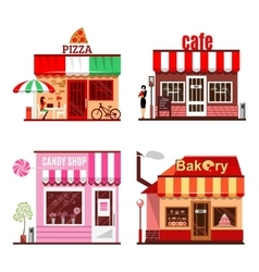 Cool set of detailed flat design city public vector
