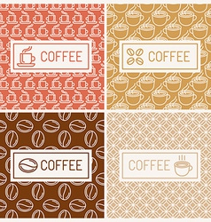 Design elements for coffee houses vector image vector image