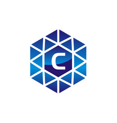 diamond initial c vector image vector image