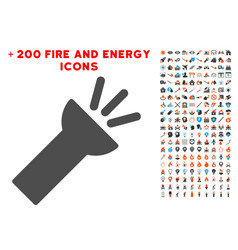 electric torch light icon with bonus power clipart vector image