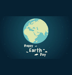 flat earth day style collection vector image