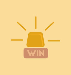 Flat icon on background win lamp vector