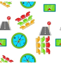 GPS pattern cartoon style vector image vector image