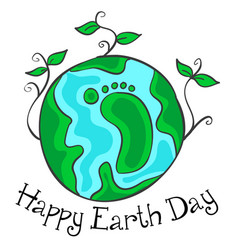 Happy earth day green world vector