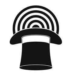 Hat with glow icon simple style vector