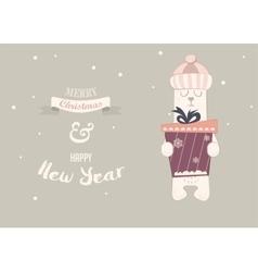 holiday of a cute polar bear vector image vector image