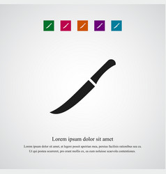 knife icon simple vector image vector image