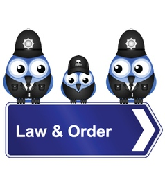 Law order sign vector