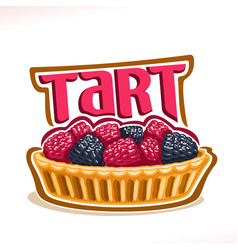 Logo for tart dessert vector