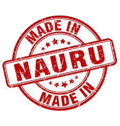 Made in nauru vector