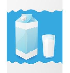 Milk packaging vector
