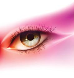 Realistic human eye vector