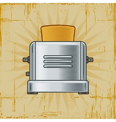 Retro toaster vector