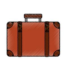 scribble suitcase cartoon vector image